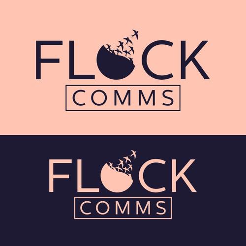 FLOCK COMMS Logo Concept