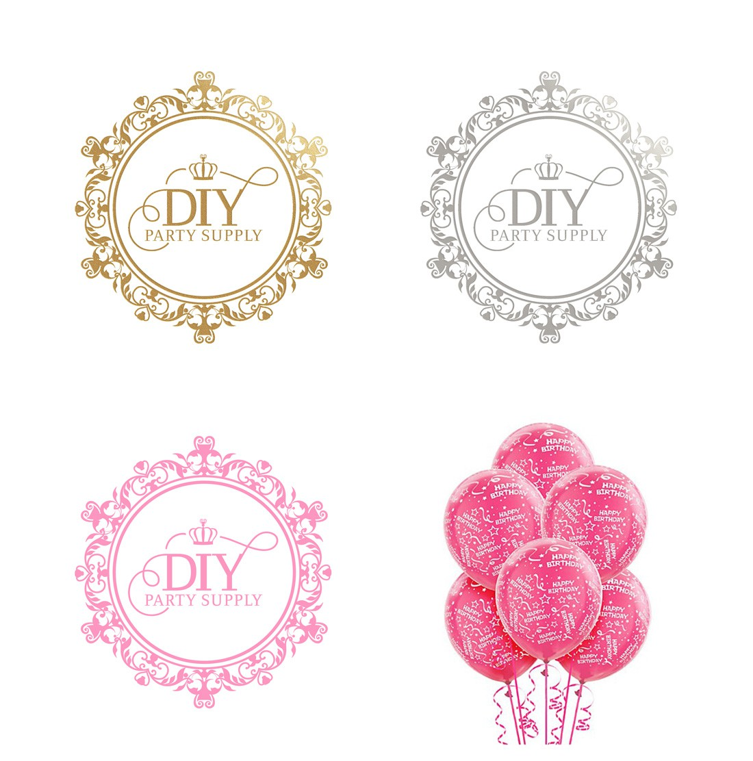 Looking for a luxury, classic, elaborate, pretty and whimsical logo for a girl's party supply company