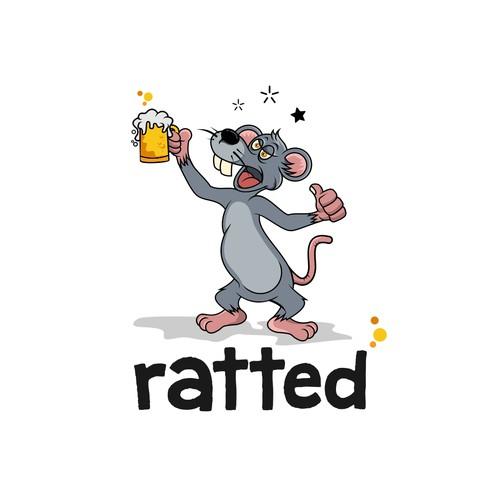为饮用应用程序设计大鼠角色