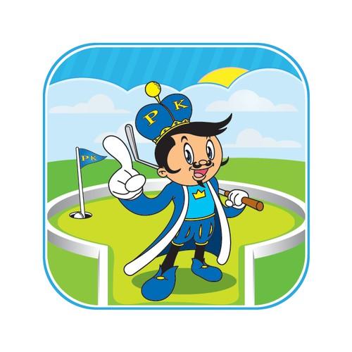 Miniature Golf Game iPhone App Icon Design