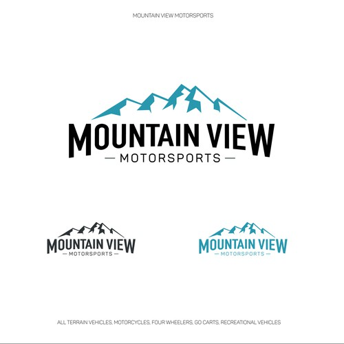 Strong and clean concept for a motorsports logo