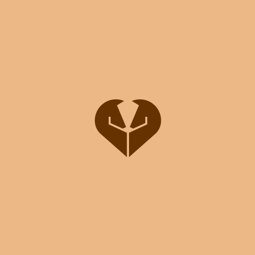 two horse shape heart