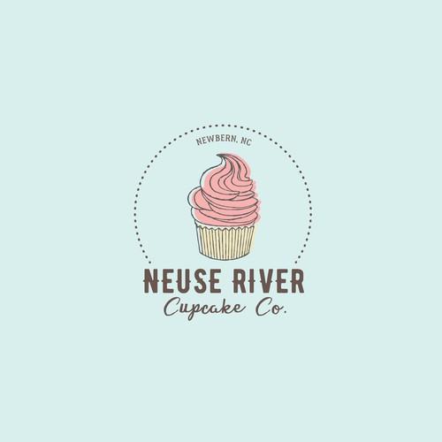 A unique logo for a cupcake company