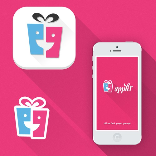 Beautiful flat version of our logo for app icon and splash page