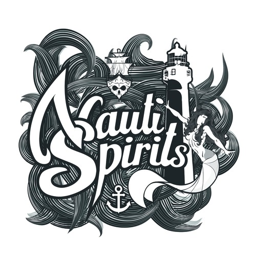 Design For 1920's-Themed Logo For Nauti Spirits Farm Distillery