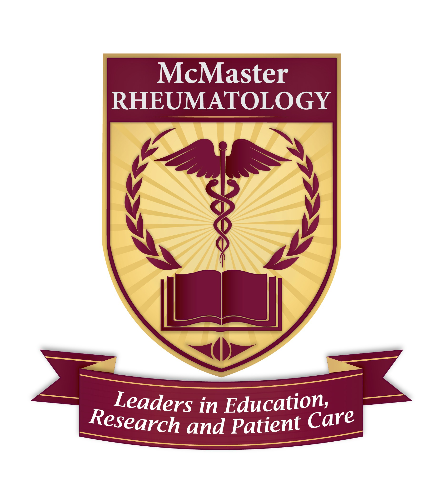 Professional logo for a university division.  Leaders in education, research and patient care.