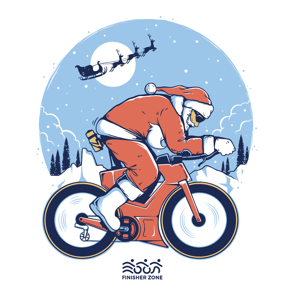 santa triathlete