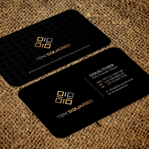 Luxury Black Business Card