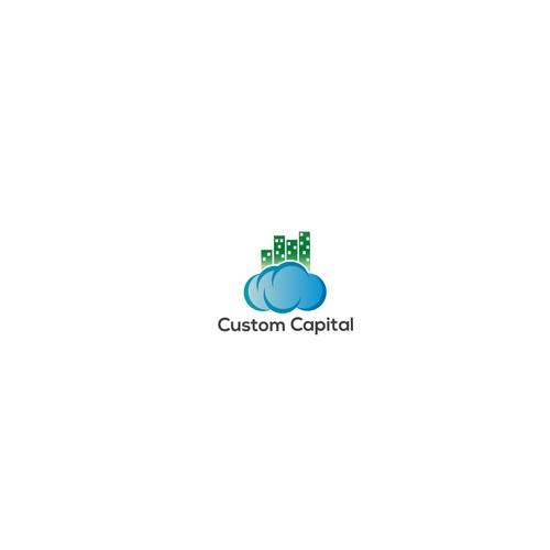 Logo concept for custom capital