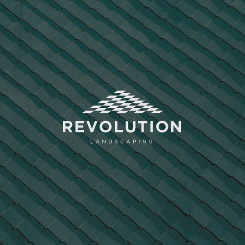 Sophisticated and standout logo for Revolution Landscaping
