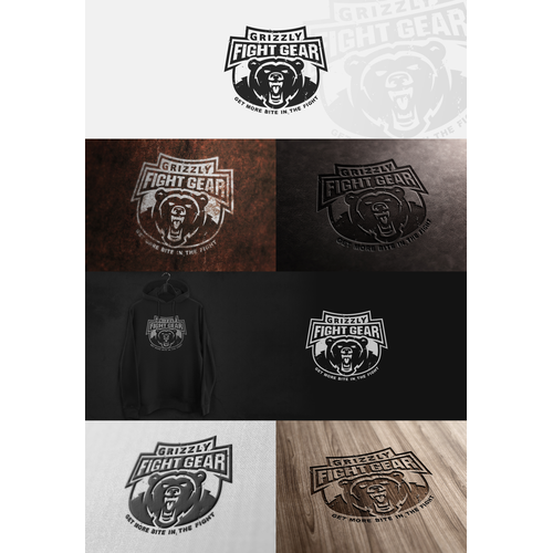 Creating a winning logo design for Alaskan Based Fight gear clothing brand, Grizzly Fight Gear