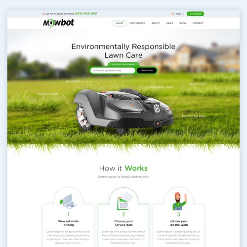 Website design for lawn care industry
