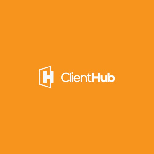 Clean minimalistic logo for ClientHub