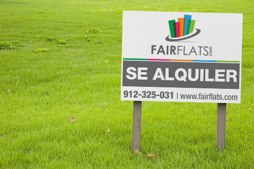 Simple business card and lettings board for a modern, professional and fun brand!! Help us!!! Fairflats.com