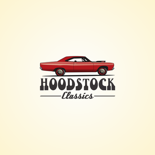 Hoodstock Classics logo design
