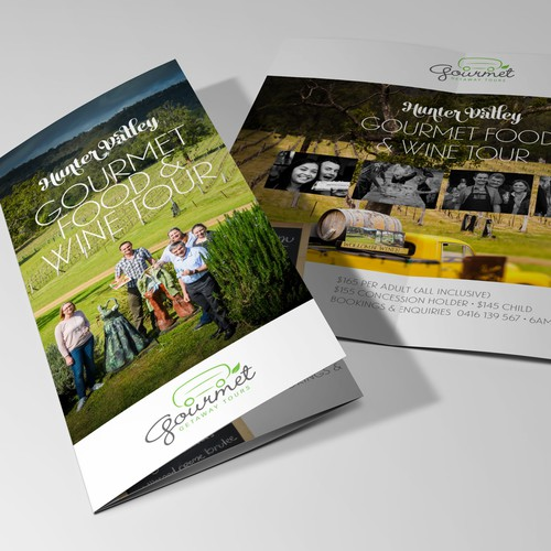 Trifold concept for Australian tourism brochure
