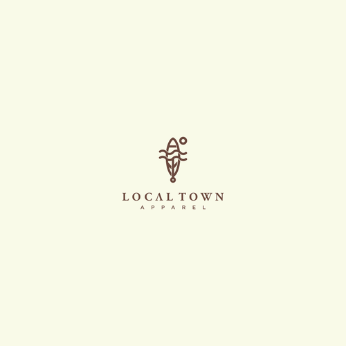 "Simple Yet Presence Logo Design for Apparel Brand ""local town"""