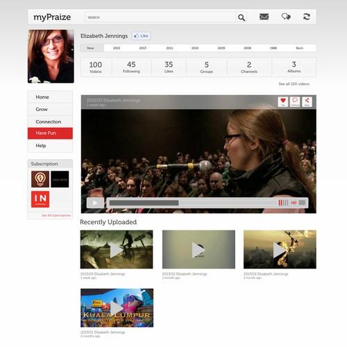 website design for MyPraize