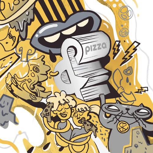 Mural design for pizzeria