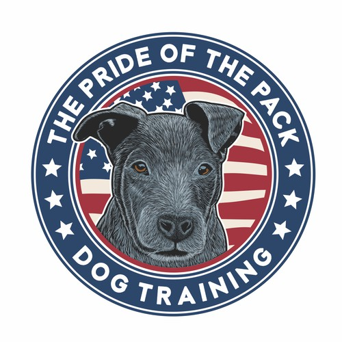 Illustration logo for dog training