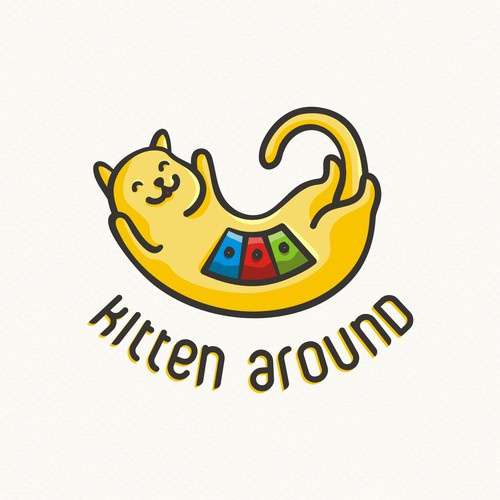 Friendly logo for a cat products company