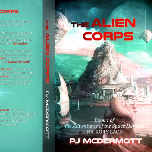 Cover design for scifi story