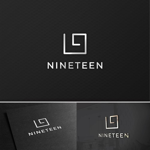 Concept logo made for Golf ranch called Nineteen
