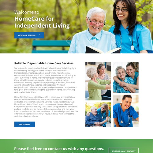 Home Care Services home page
