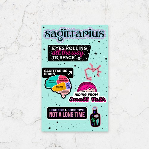 Sagittarius - Astrological Stickers Design