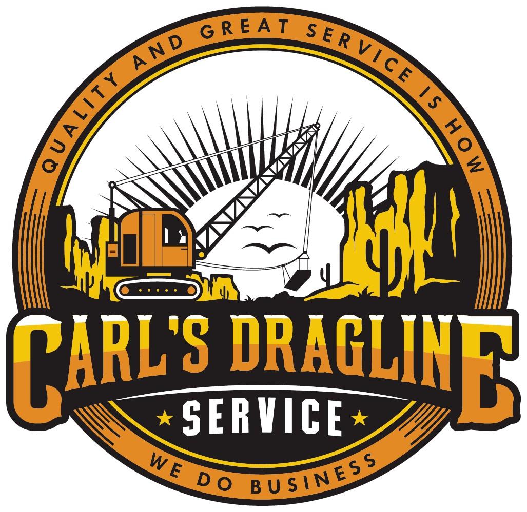 Logo for a Dragline company
