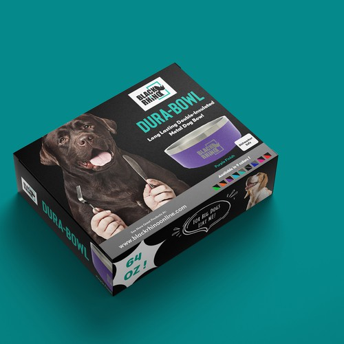 Packaging concept for dog bowl box