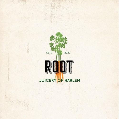 Hipster logo for juicing brand