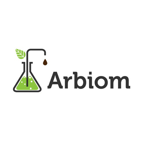"Show the ""bio"" and ""industry"" in the Arbiom logo, a sustainable bio-chemicals company"