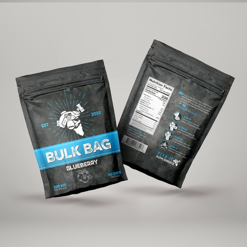 Blueberry Supplements Stand Up Pouch
