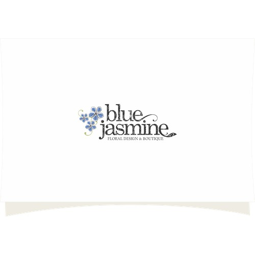 LOGO & BUSINESS CARD DESIGN FOR BLUE JASMINE LLC FLORAL DESIGN AND BOUTIQUE