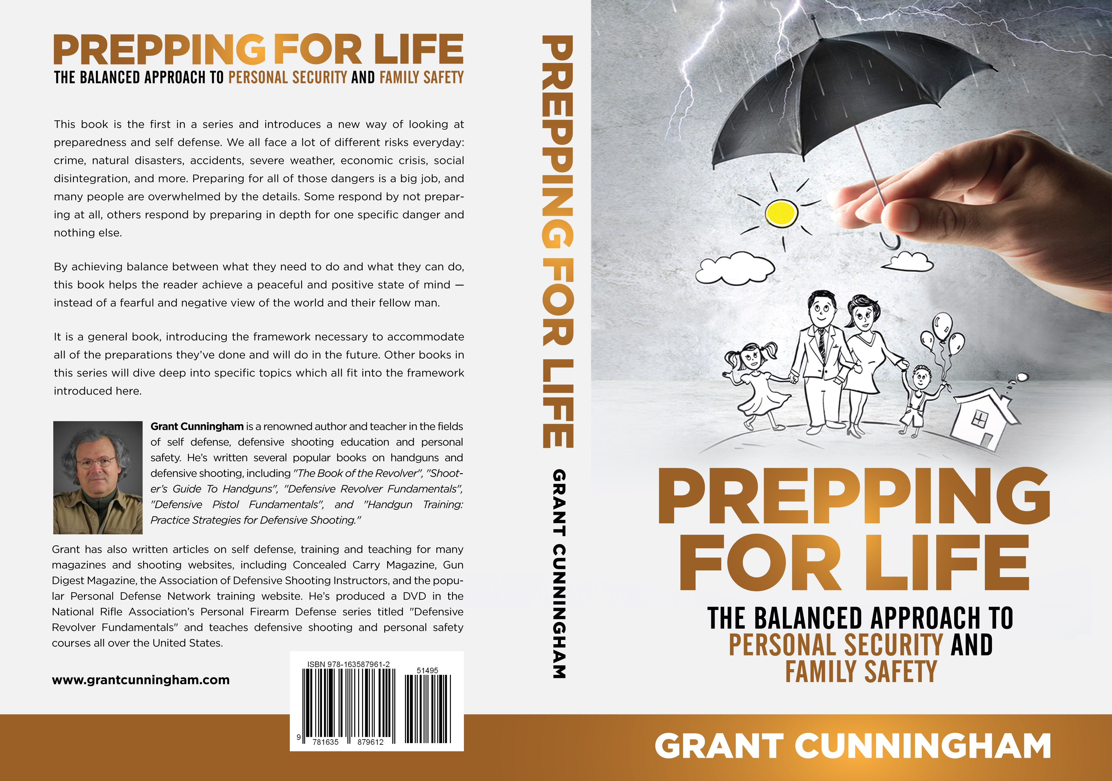 Design a book cover about achieving personal peace by being prepared!
