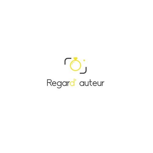 Concetp de logo inspirant représenter les meilleurs photographes de mariage