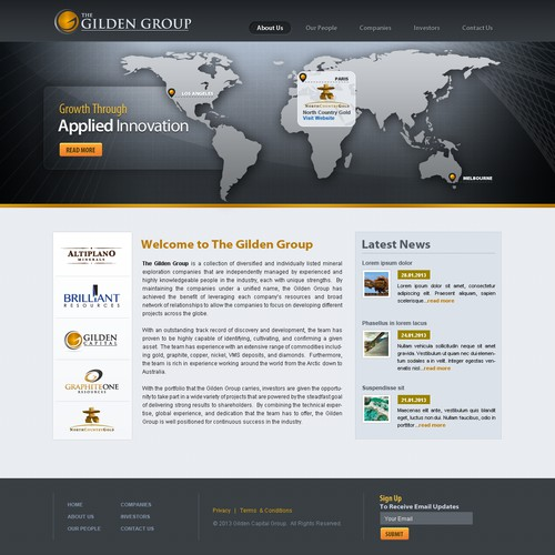 Website for The Gilden Group