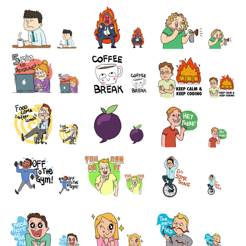 Create cool Emoji-Stamps for an awesome Business Chat