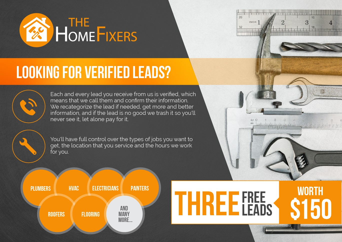 Design a flyer for TheHomeFixers