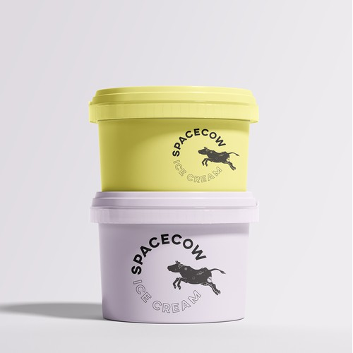 Gourmet ice cream package and logo
