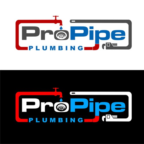 A creative logo for a plumbing company