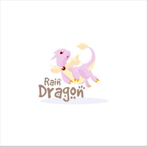 Rain Dragon Logo design.