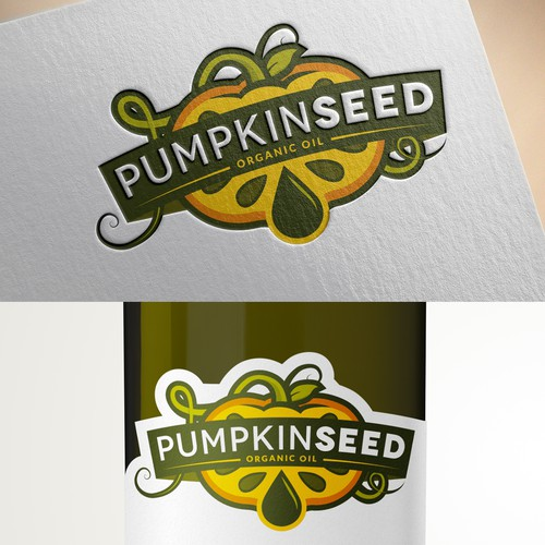 Logo for organic farmer that makes pumpkinseed oil