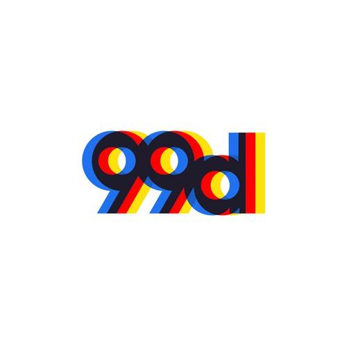99d logo Bauhaus style