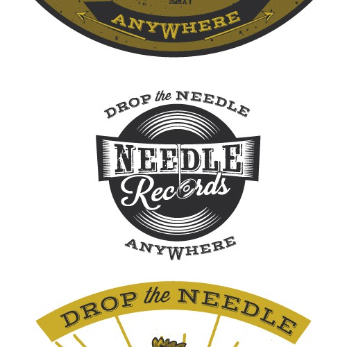 Vintage logo for Needle Records