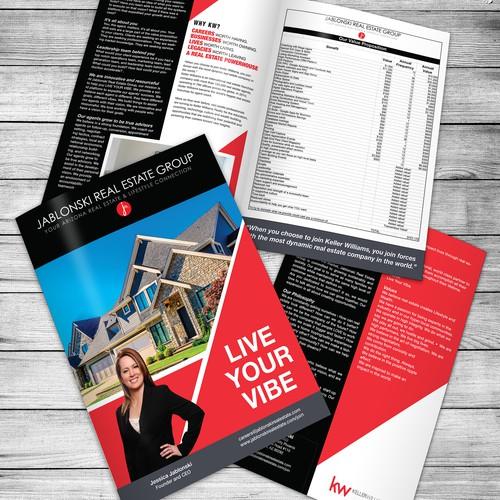 Vibrant slick brochure for Real Estate Agency