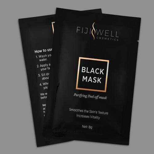 FijiWell Blackhead Mask, luxury blackhead cosmetics packets