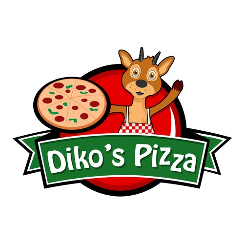 Logo for a new cool Diko's Pizza store.