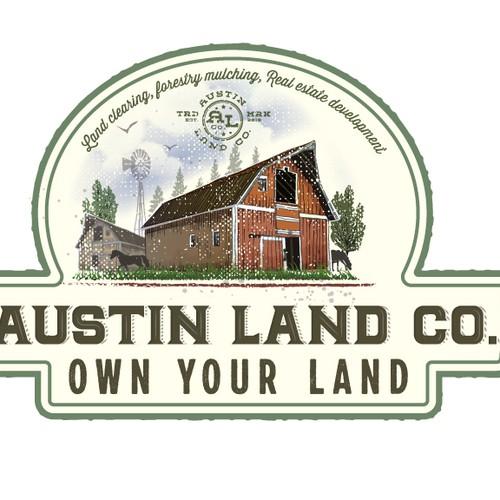 Logo for veteran owned land management business